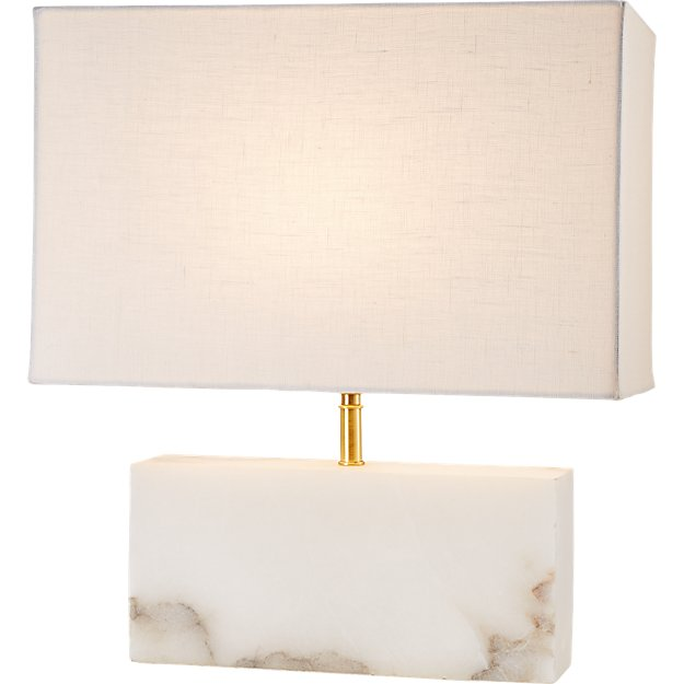 White Alabaster Rectangle Table Lamp Reviews Cb2 Table Lamp Lamp Modern Table Lamp