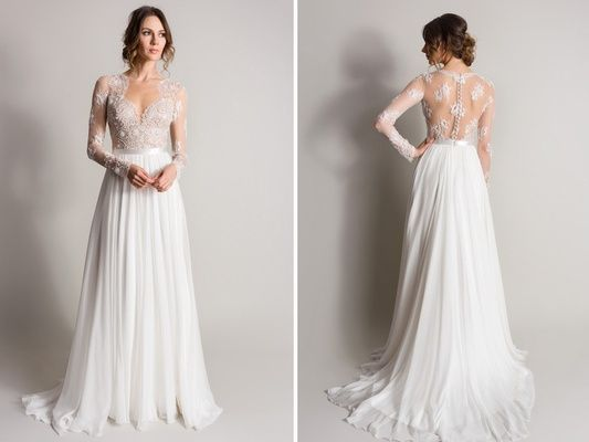 """""""Camellia"""" by Suzanne Neville Article: Dreamy Wedding Dresses Perfect for Summer Weddings Photography: Courtesy of Suzanne Neville Read More: http://www.insideweddings.com/news/fashion/dreamy-wedding-dresses-perfect-for-summer-weddings/2062/"""