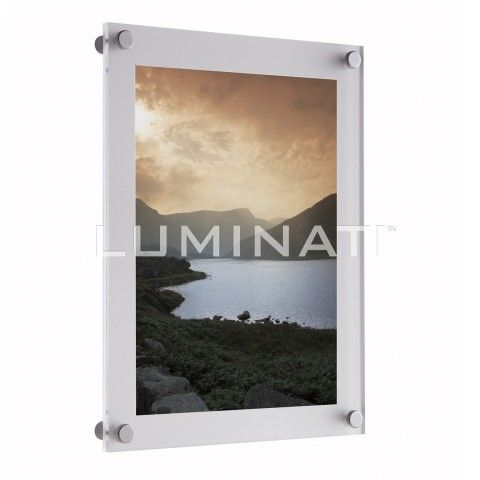 Clear acrylic wall mounted frame, supplied with aluminium wall ...