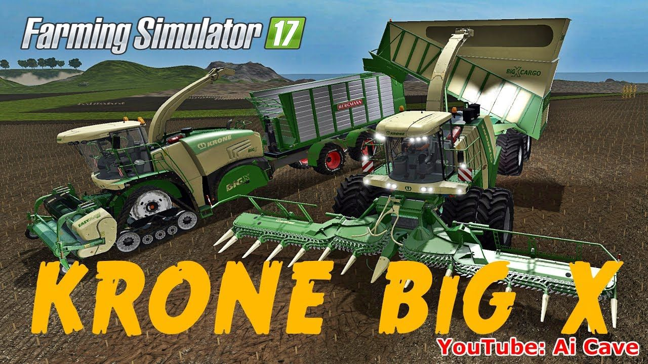 Farming Simulator 2017 Mods: KRONE BiG X 1100 CARGO & 580 HKL | I am