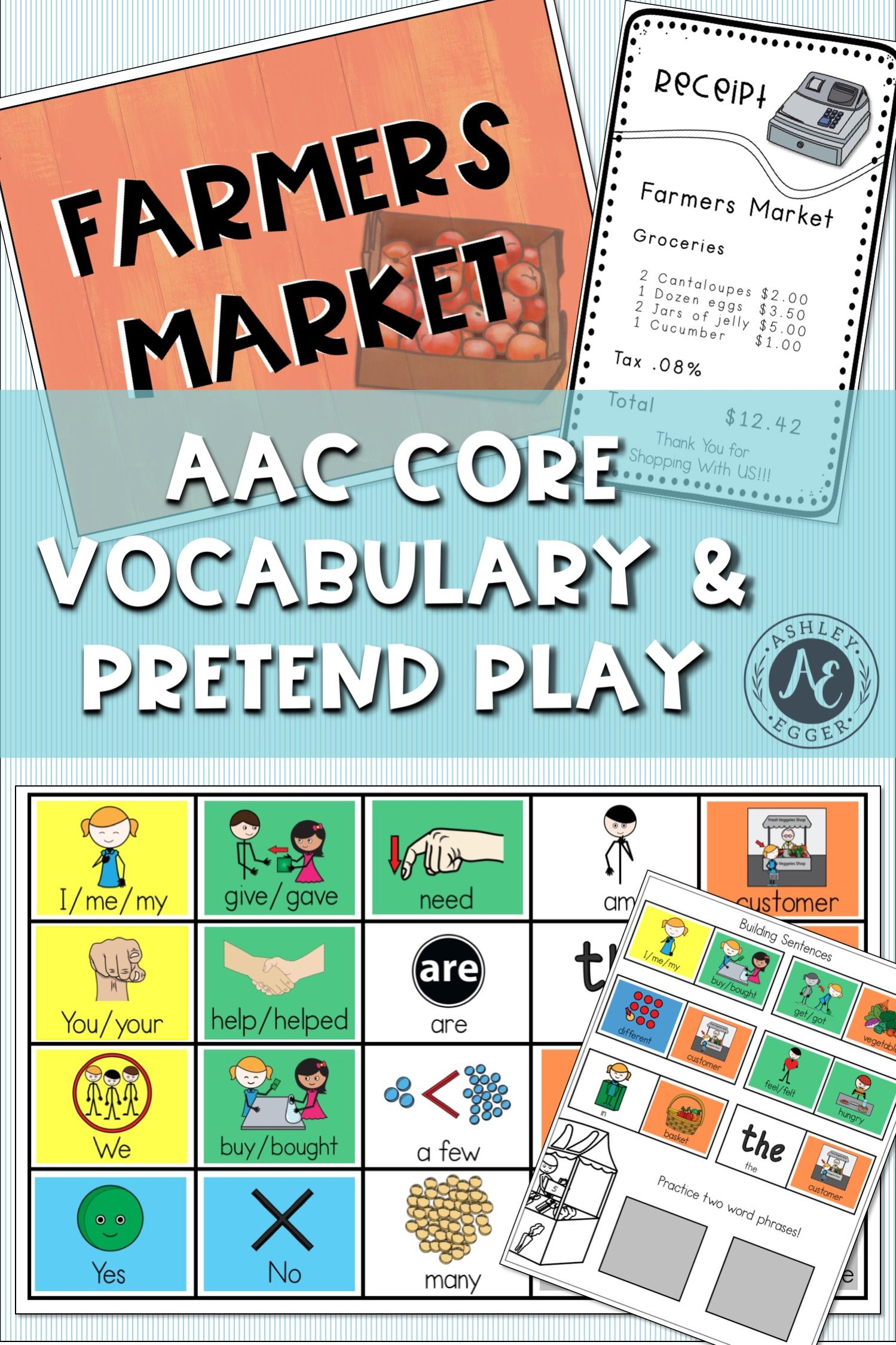Aac Activity Farmers Market Dramatic Play Speech Therapy