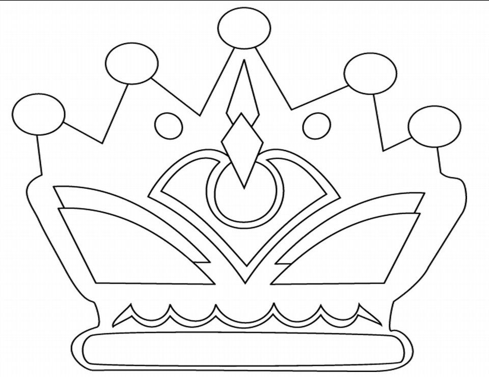 Crown With Jewels Coloring Sheets