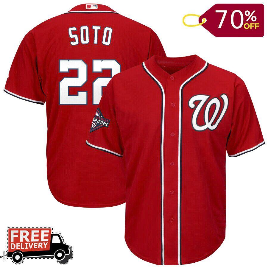 Men S Juan Soto Washington Nationals 2019 World Series Champions Official Jersey Unbranded Washington Nationals Mens Jersey Shirts World Series
