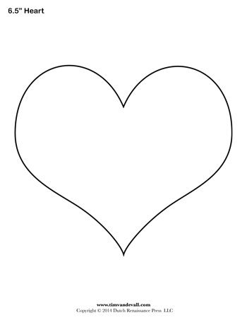 Printable Shape Templates For Art Crafts Heart Template