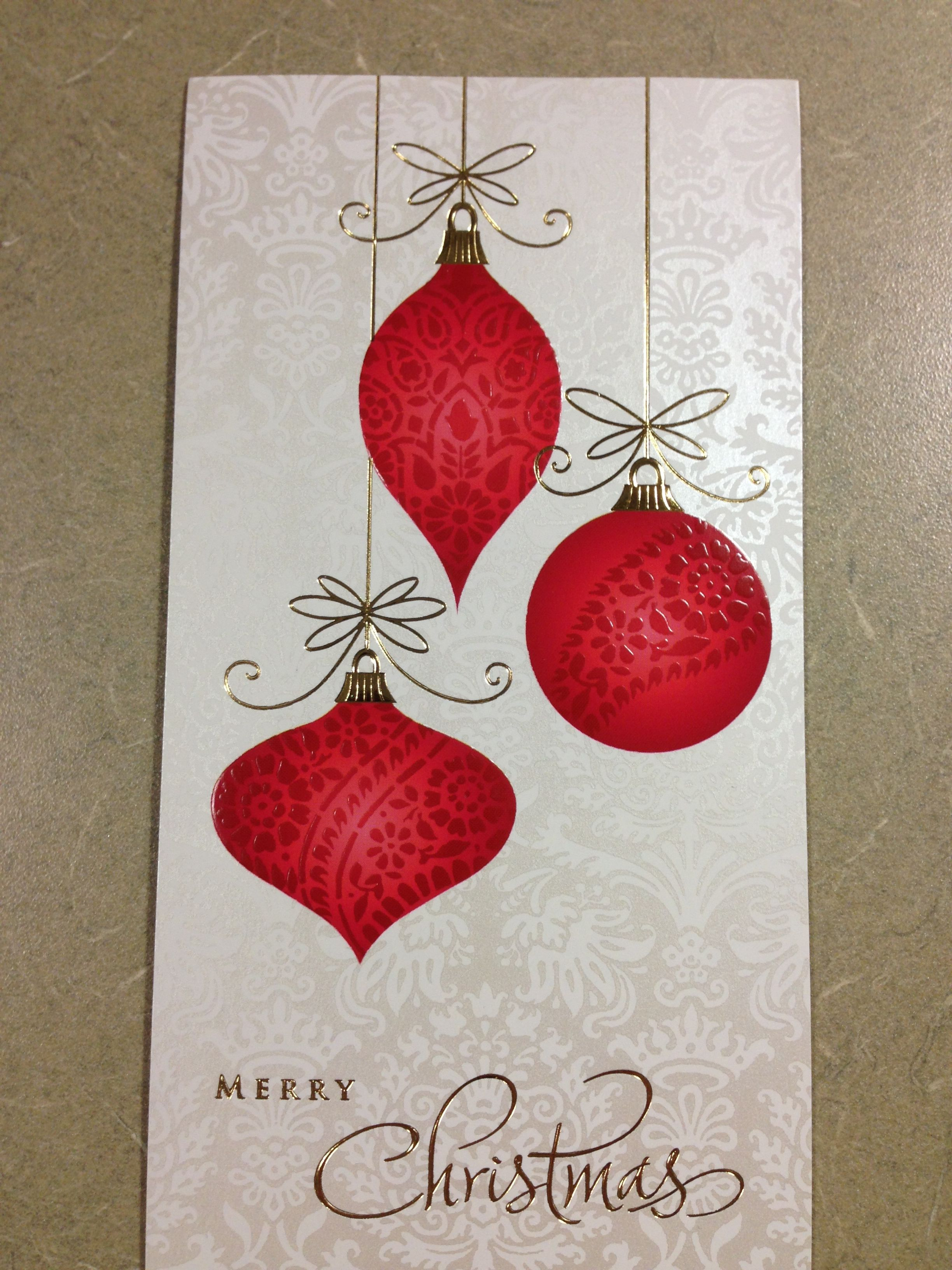 Ornament card | Christmas Cards | Pinterest | Christmas cards ...