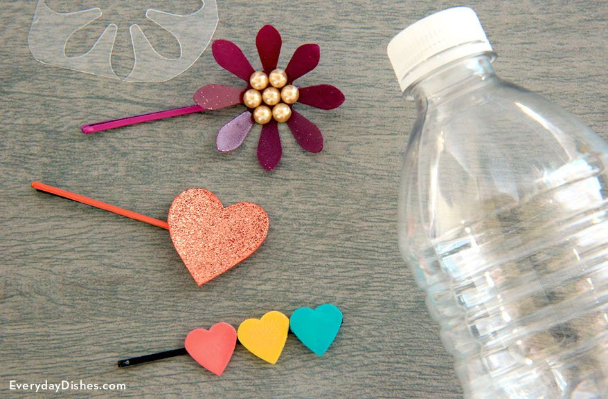 Diy Hair Clip Instructions Recipe Water Bottle Crafts