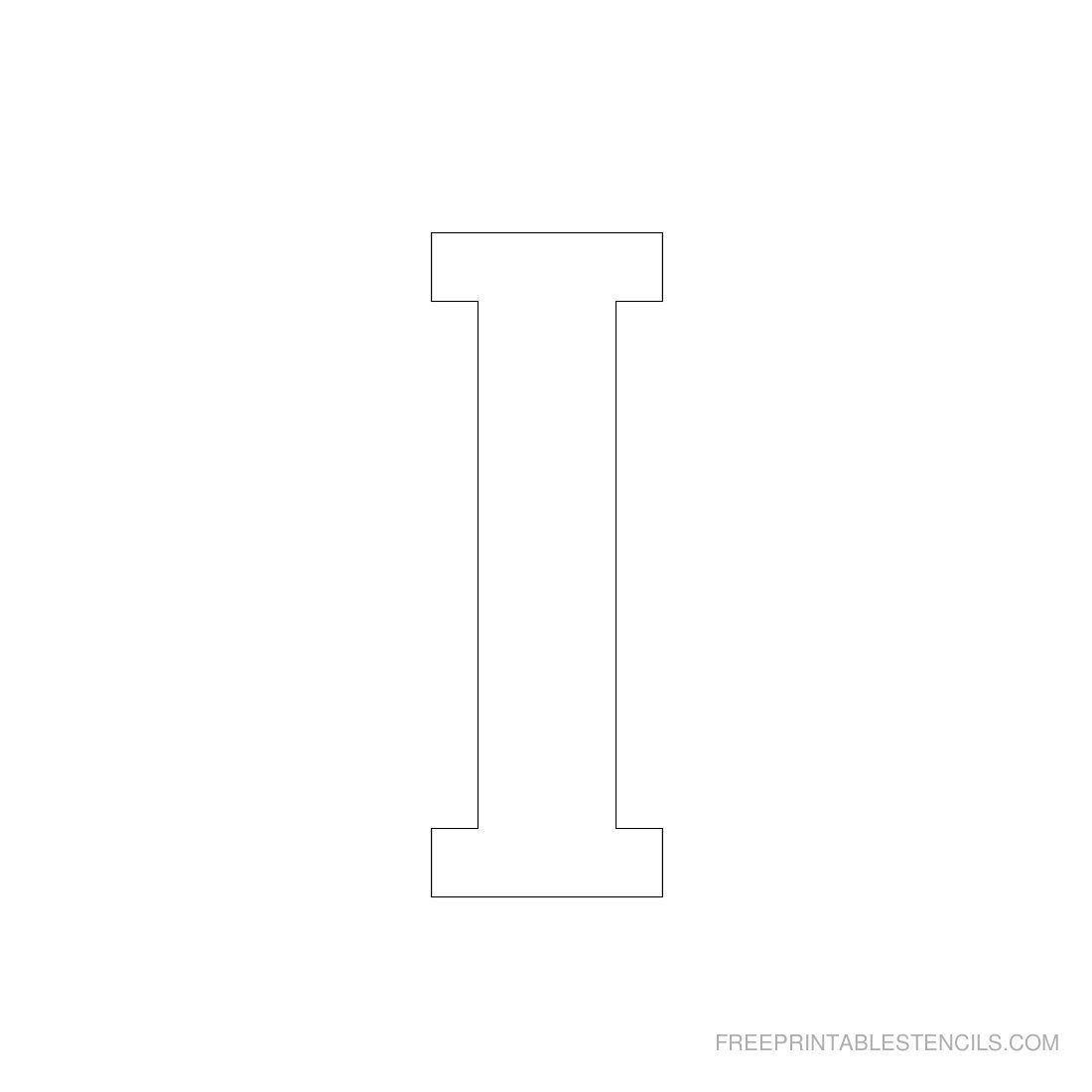 Printable 3 Inch Letter Stencils A Z Letter Stencils Stencils Printables Free Printable Letter Stencils