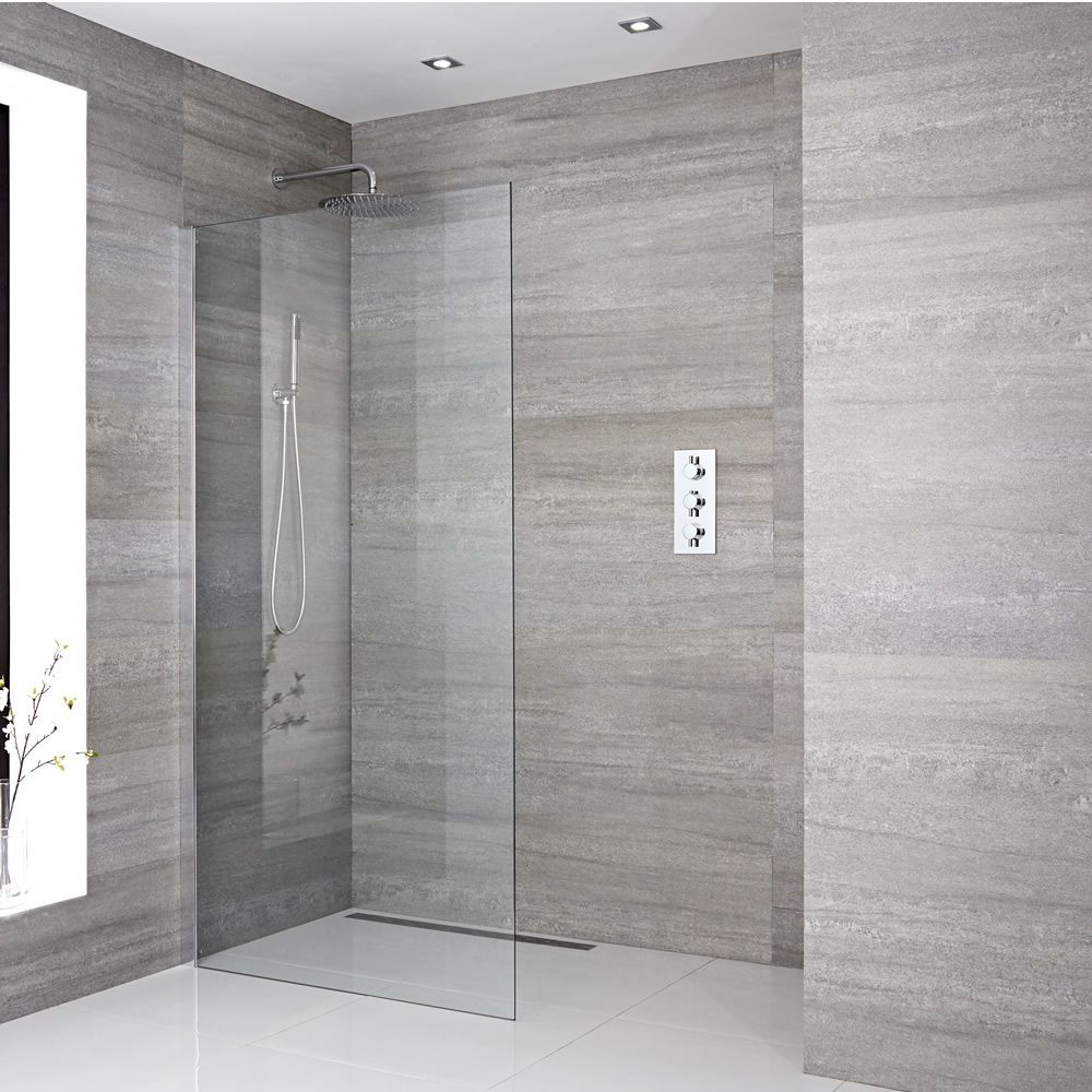 Walk In Duschwand 1950mm X 1200mm Inkl Duschwandhaltestange Wahlbare Duschrinne Sera Duschwand Duschrinne Walk In Dusche