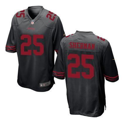 b5ba3c50e San Francisco 49ers Richard Sherman Nike Black colour Stitched  jersey   49ers  SanFrancisco49ers  49ERS  Niners  SanFrancisco  ninersnation  QB   faithful49 ...