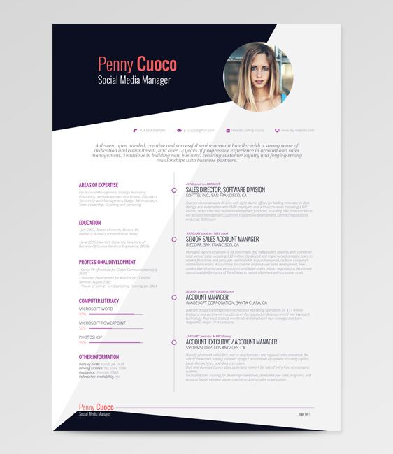 21 Free Résumé Designs Every Job Hunter Needs buildbuzzinfo