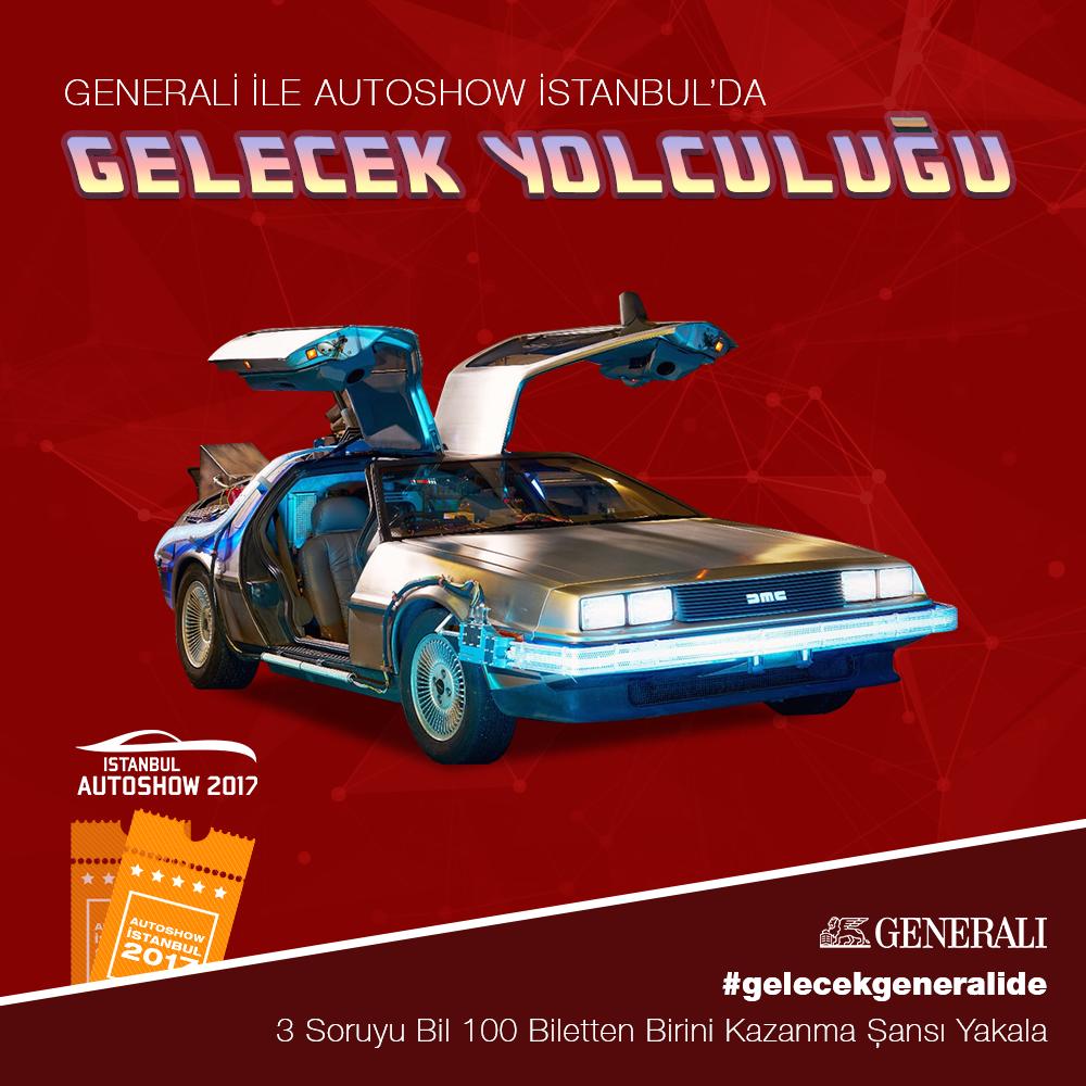 Generali Sigorta'dan İstanbul Autoshow 2017'ye 100 bilet.