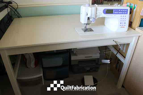 Create A Custom Sewing Table With This IKEA Hack DIY Tips Sewing Cool Custom Sewing Machine Table