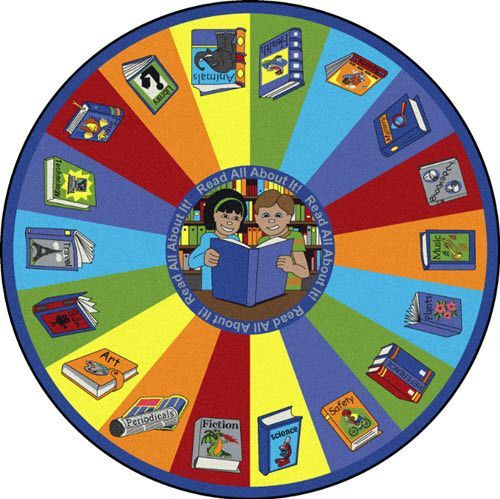 read all about it classroom rug 7u00277 round - Classroom Rug