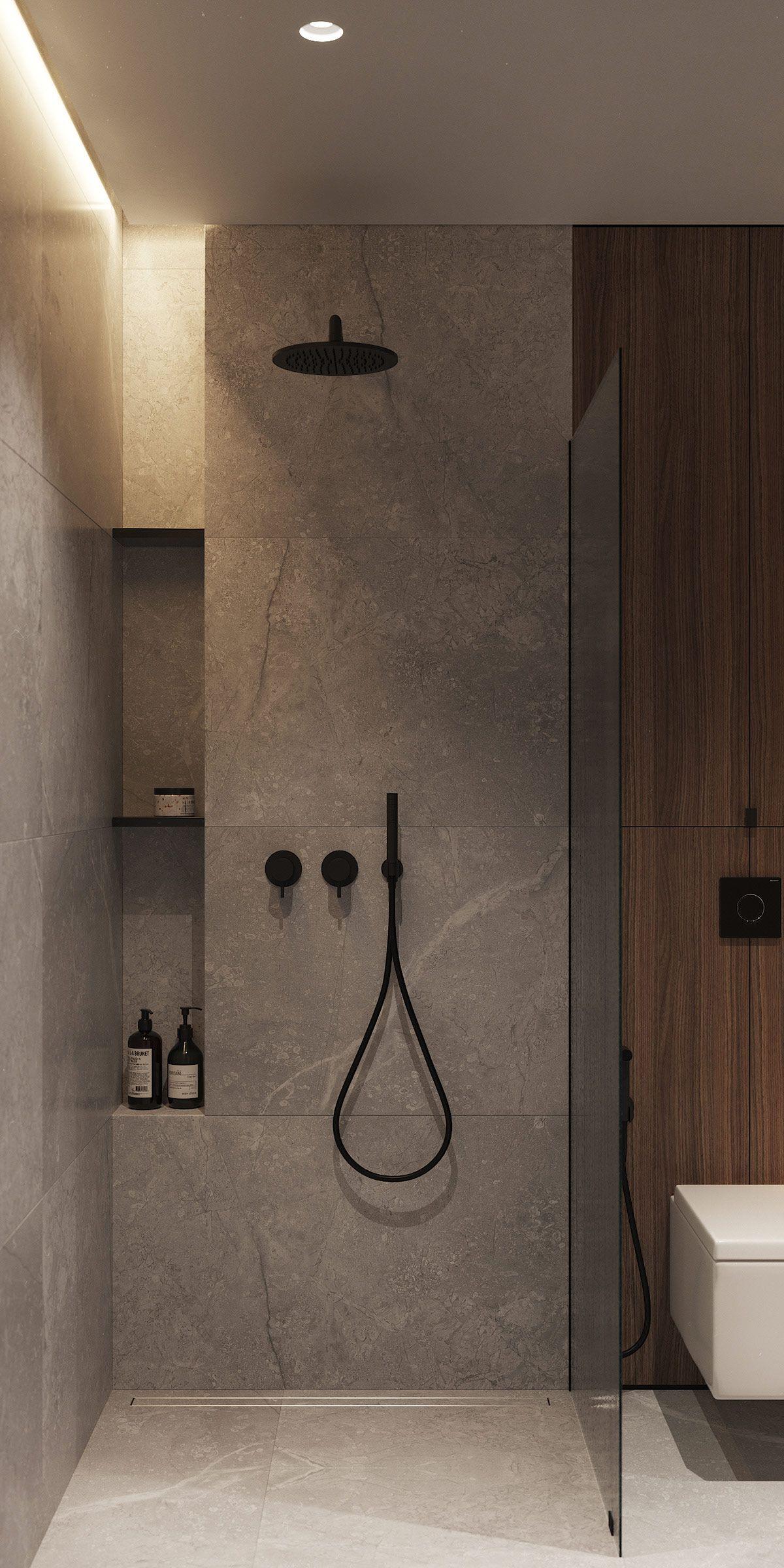 Suave 60 Sqm Home Designs With Black, Grey & Tonal