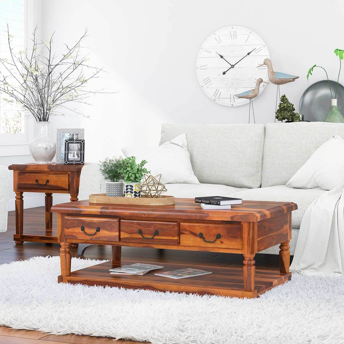 Bakersfield Solid Wood Baluster Coffee Table With 3 Drawer In 2021 Coffee Table Rustic Square Coffee Table Wood Balusters [ 1200 x 1200 Pixel ]