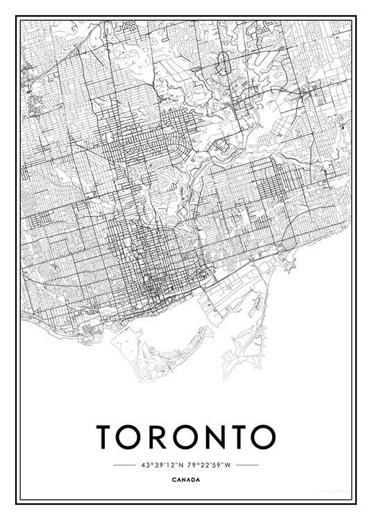 Toronto Julisteet ryhmässä Julisteet  / Kartat ja kaupungit @ Desenio AB (2045)