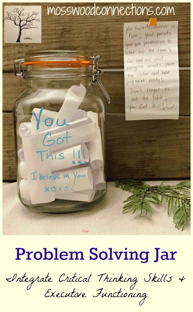 Integrate Critical Thinking Skills & Executive Functioning with this Problem Solving Jar activity. Help children learn problem solving skills for everyday problems.
