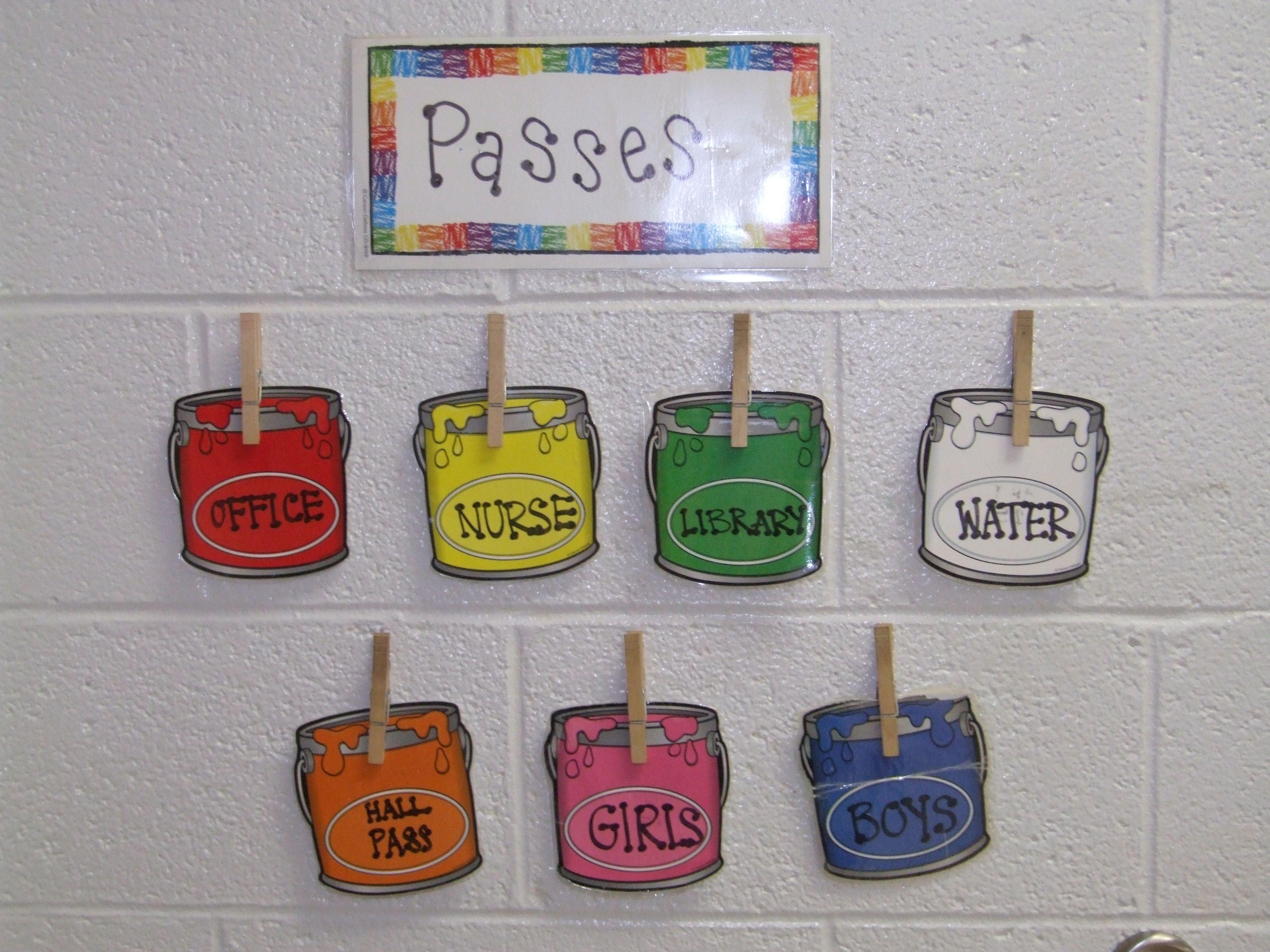 Bathroom Pass Ideas Elegant School   Classroom organization