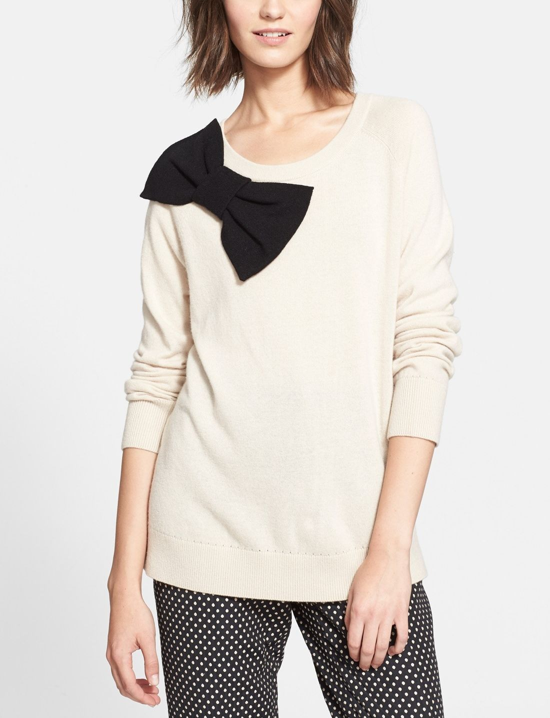 Bows are perfect for every season. Absolutely adore this Kate Spade bow sweater!