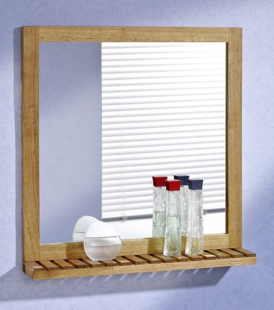 Details Zu Wandspiegel Mit Ablage 60x63 Walnuss Holz Spiegel