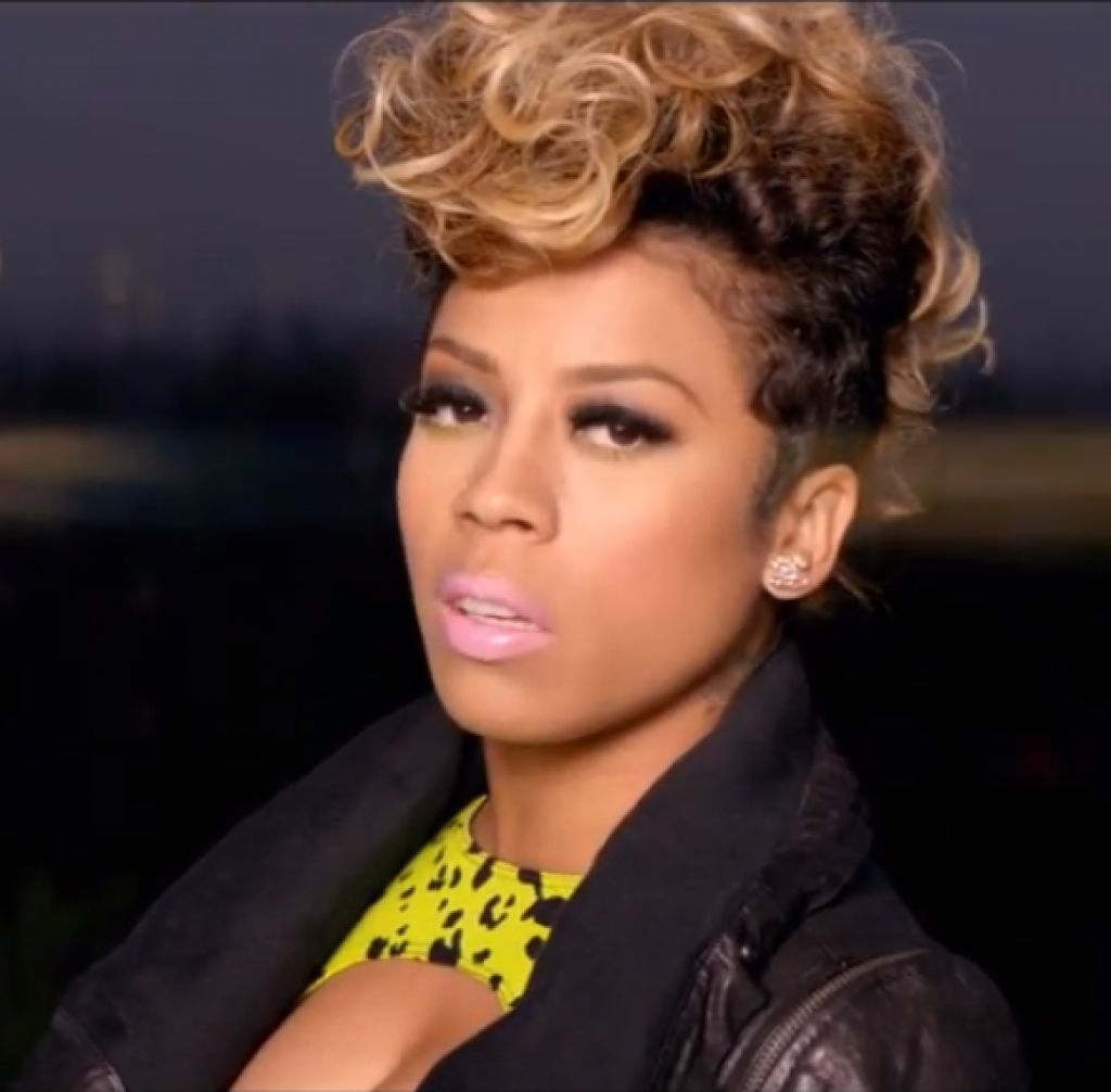 Keyshia Cole Hair And Makeup With Curly Mohawk Style