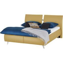 Photo of Upholstered bed – yellow – 188 cm – 110 cm – beds> double beds furniture Kraft