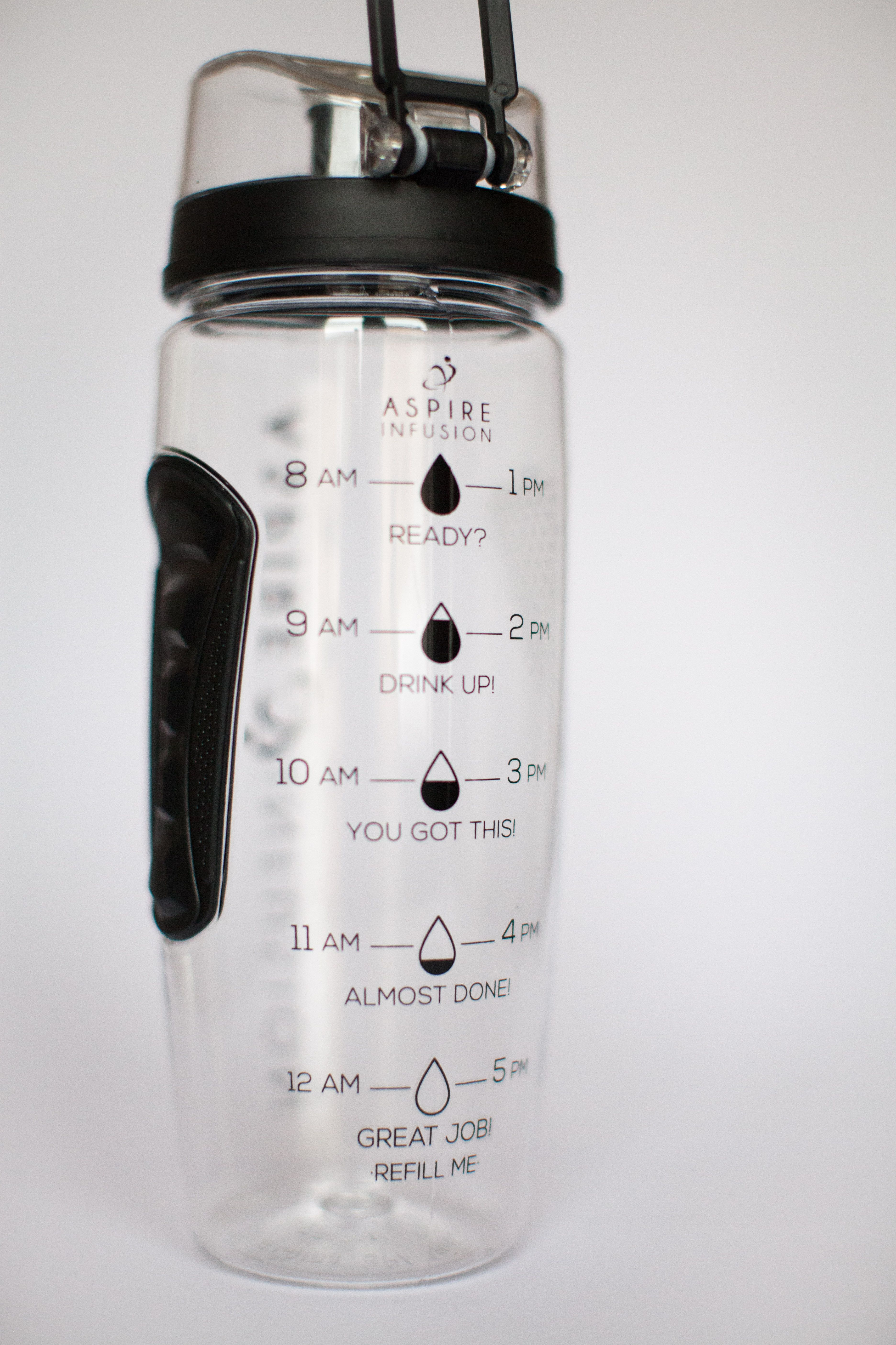 50e20863be Aspire Infusion | 3-in-1 Fruit Infuser 1 Litre Motivational Water Bottle  With Time Markings by Aspire Products | Includes FREE Protein Shaker  Stainless ...