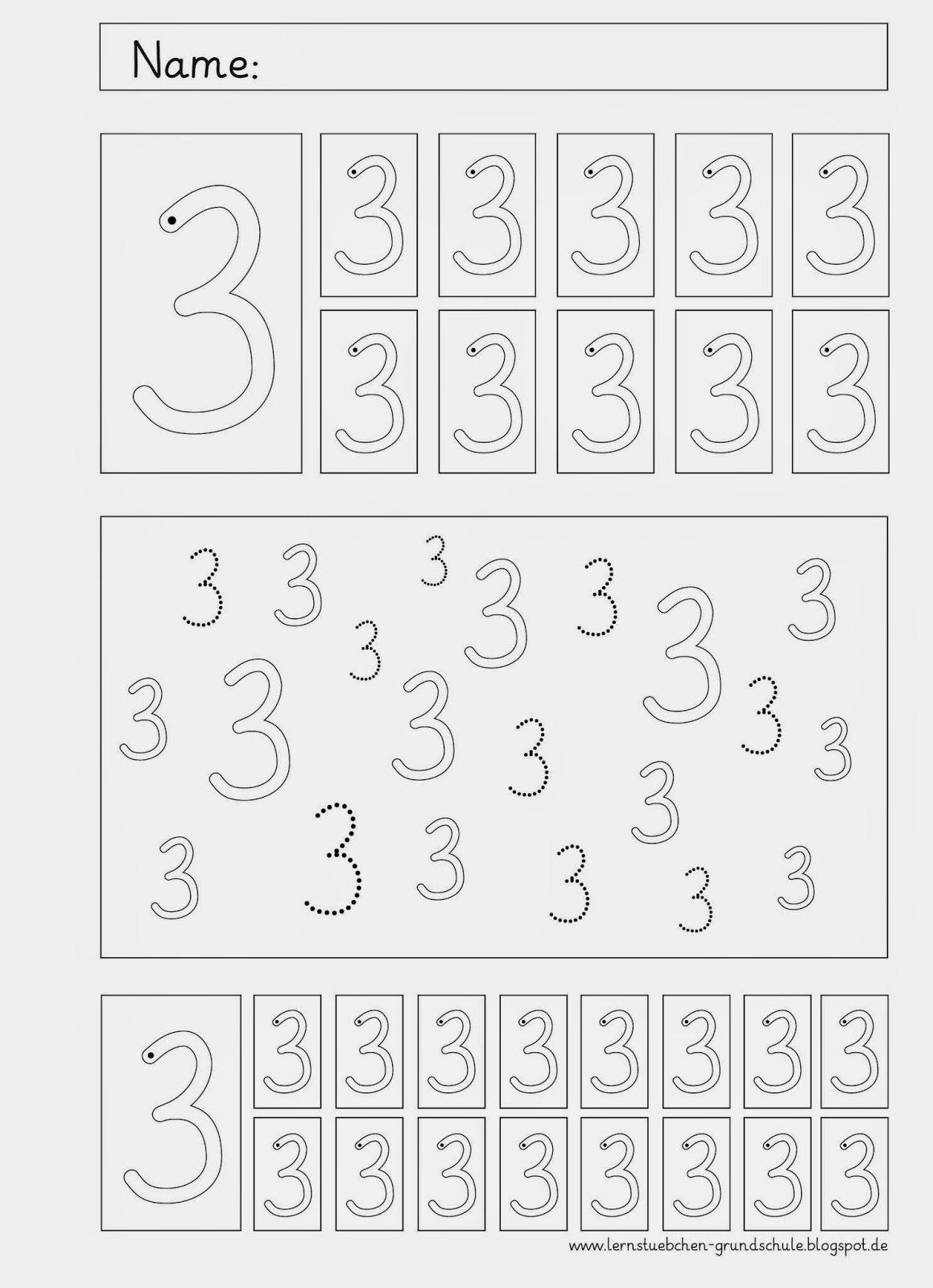 die letzten Arbeitsblätter zum Ziffernschreibkurs | cyfry karty ...