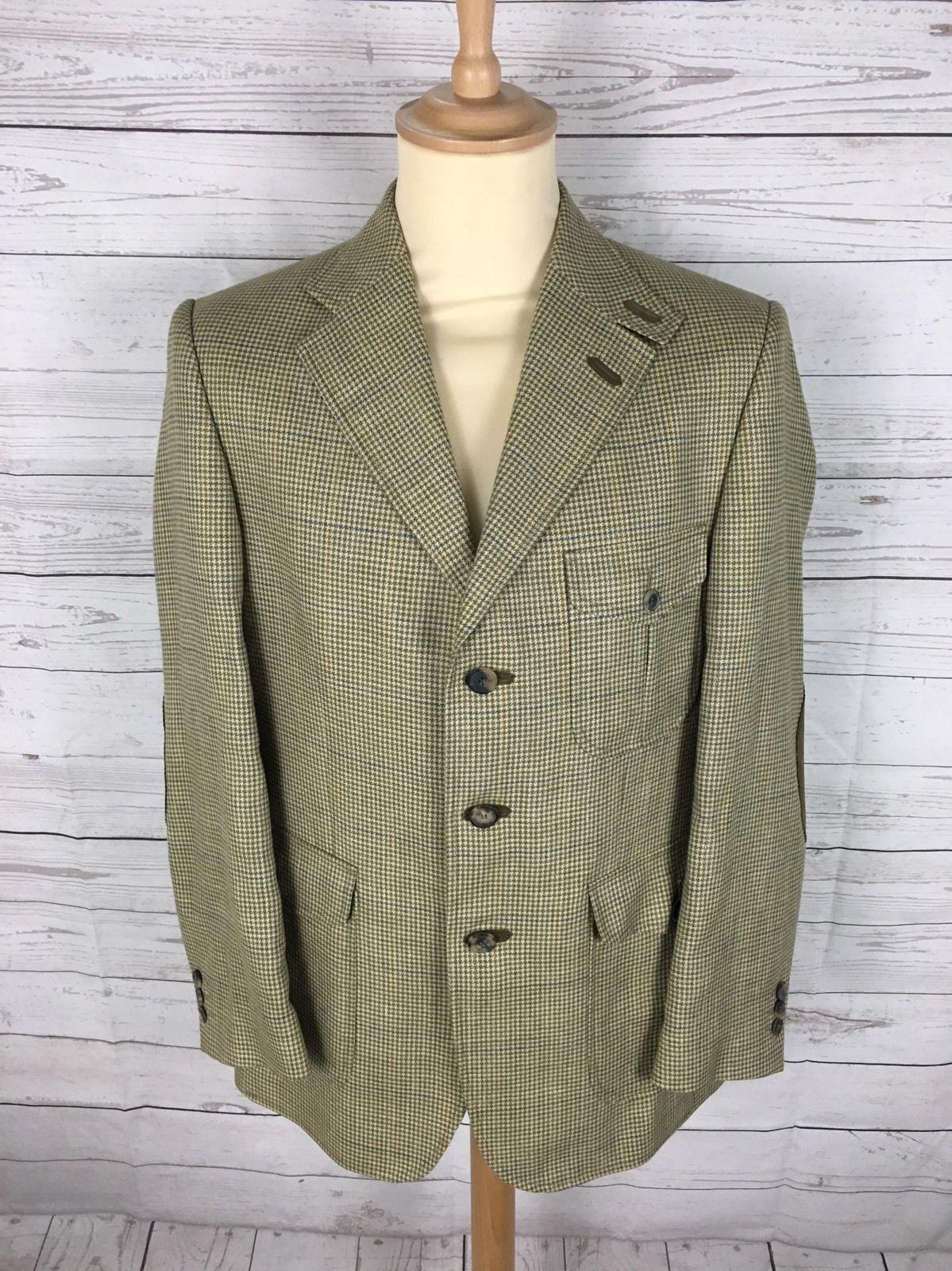 Mens DAKS Tweed Hunting/Shooting Jacket/Blazer - 42R - Great Condition |  eBay