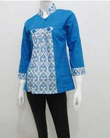 Pin Oleh Indah Srie Di Blus Batik Di 2019 Blus Model Dan Pakaian Rok