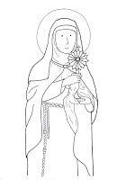Saint Clare Of Assisi Clare Of Assisi Saint Coloring Catholic