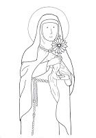 Celebrating The Feast Of St Clare Clare Of Assisi Coloring