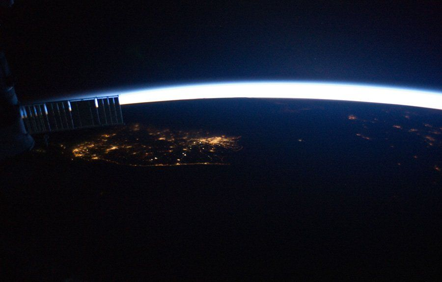 Korean Peninsula The bright lights of Seoul, South Korea (left - best of world map at night korean