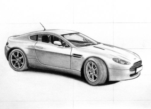 A step towards how to draw a car, video and example of an ...