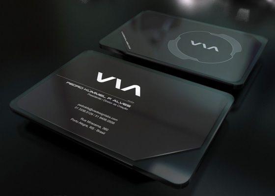 Via business cards
