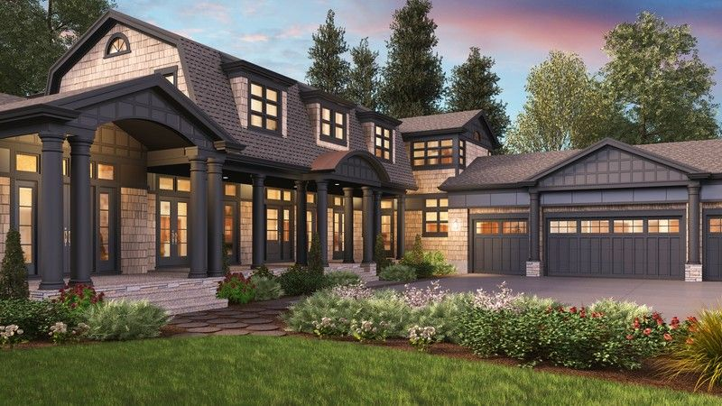 Cape Cod Never Looked So Good Plan 2472 The Chatham Is A 4903 Sqft Cape Cod Colonial Shingle Traditio Colonial House Plans Cape Cod House Plans House Plans