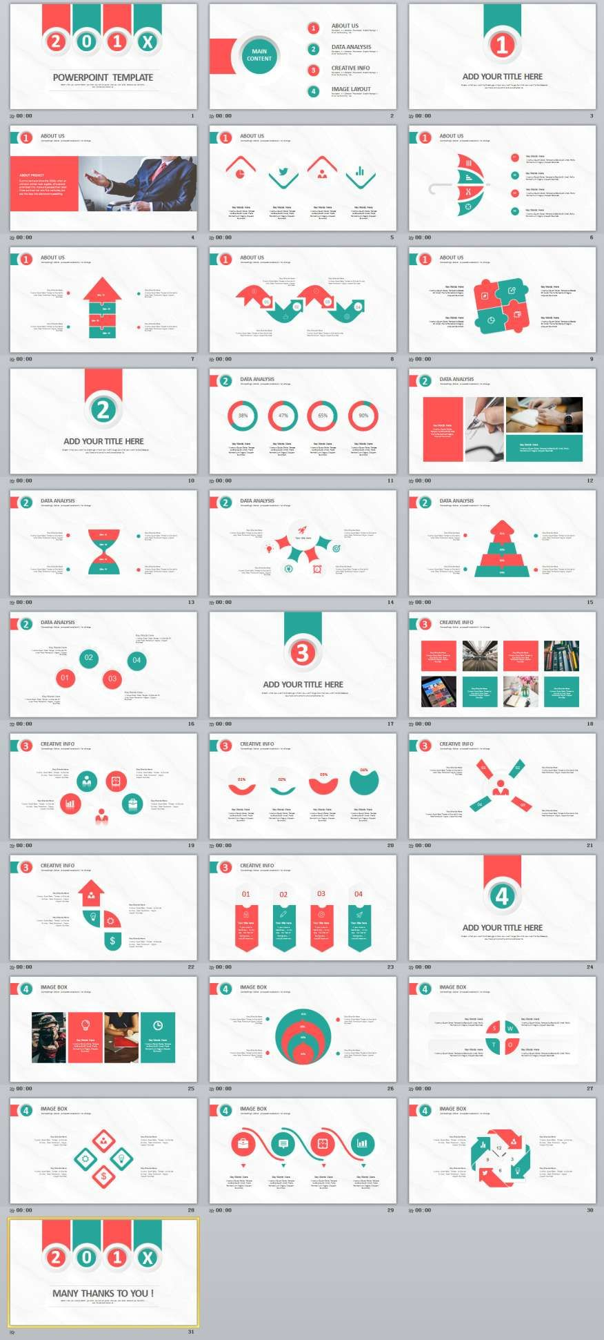 31 best redblue infographic powerpoint templates presentation