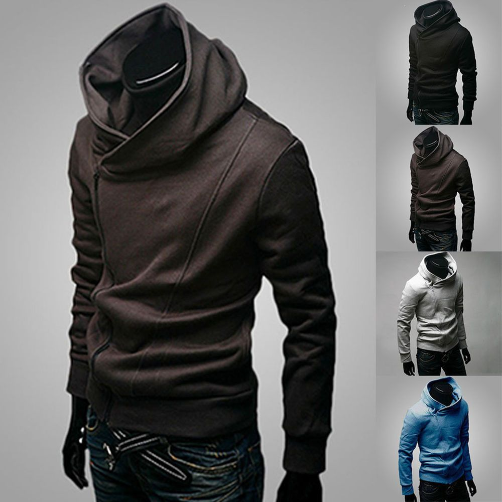 New Fashion Men's Korean Slim Fit Sweater Hoodie Cardigan Jacket ...