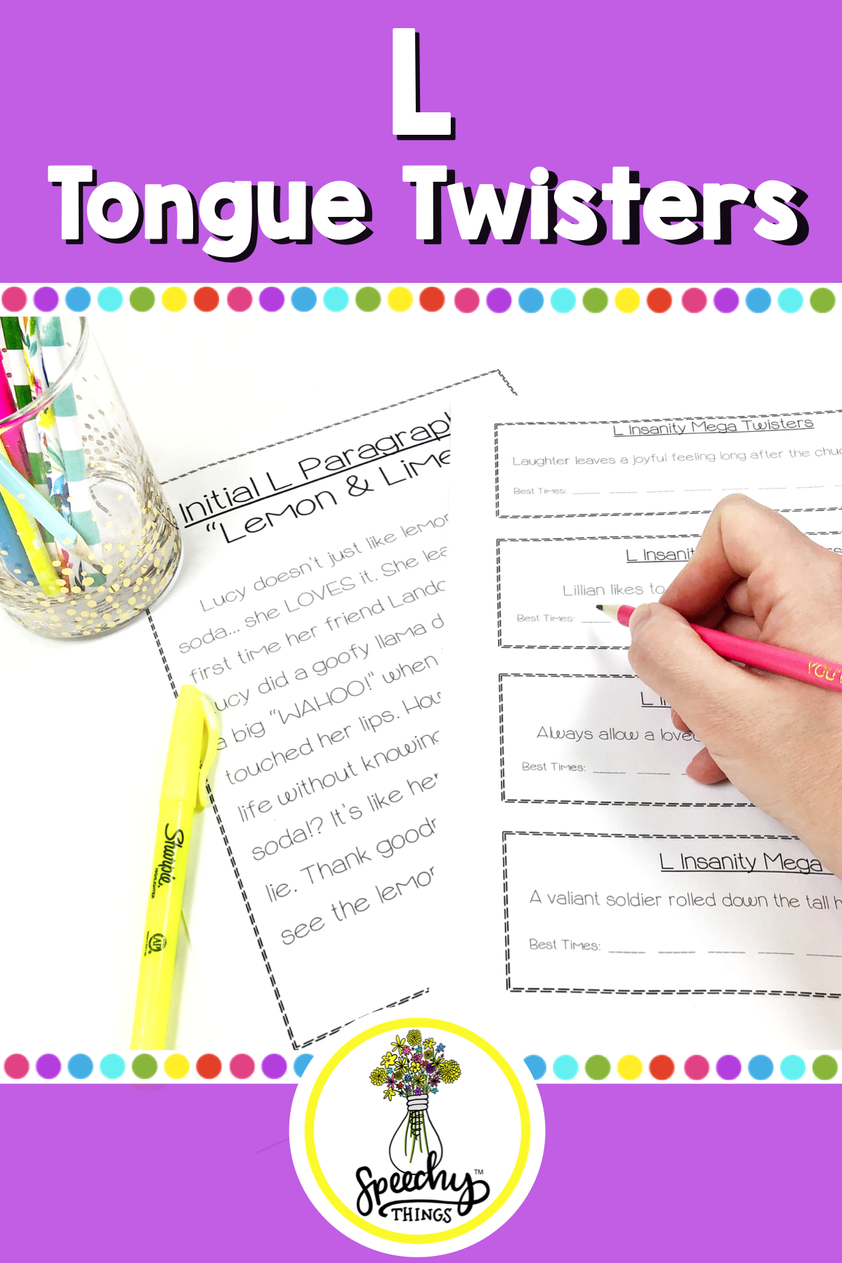 L Tongue Twisters For Articulation In