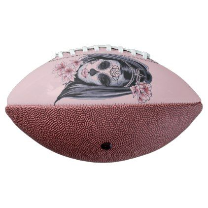 Woman skeleton mask football - home decor design art diy cyo custom - halloween design