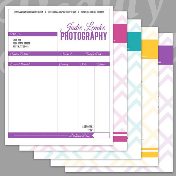 Photography Business Forms - 5 Critical Contracts and Order Form - photography order form