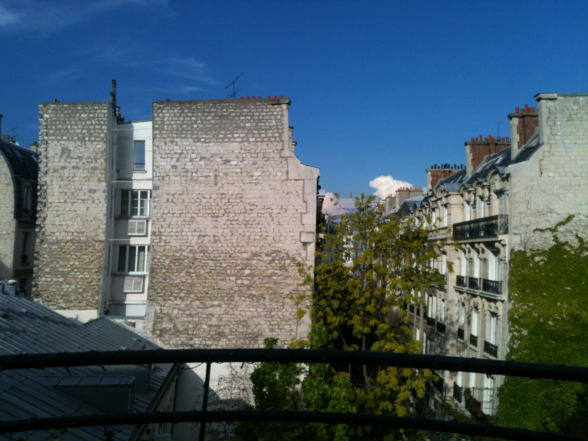 Spring in Paris view of sky from 52 Clichy. www.52Clichy