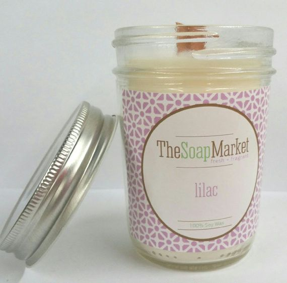 Lilac Woodwick Candle.. So great for spring/summer ...