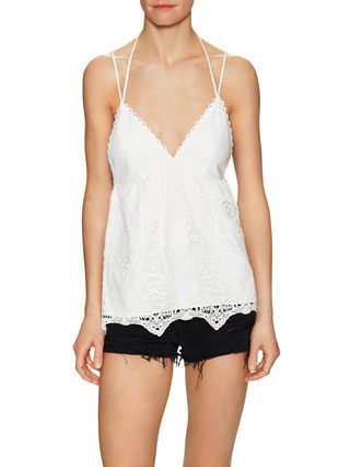 Nora Cotton Lace Top by SAYLOR at Gilt