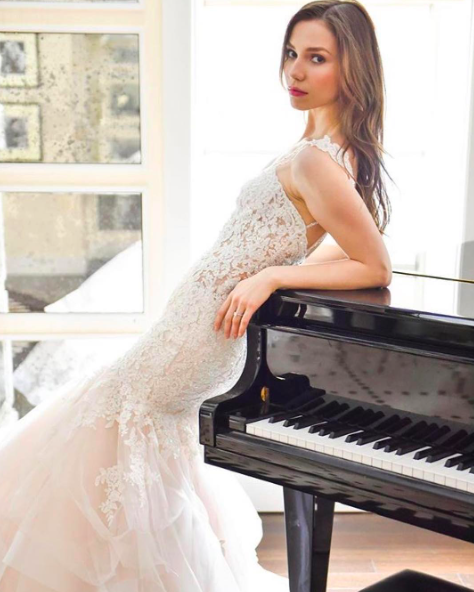 Dazzling Beaded Bodice On Flounced Tulle And Organza Ball: Marciela Wedding Dress