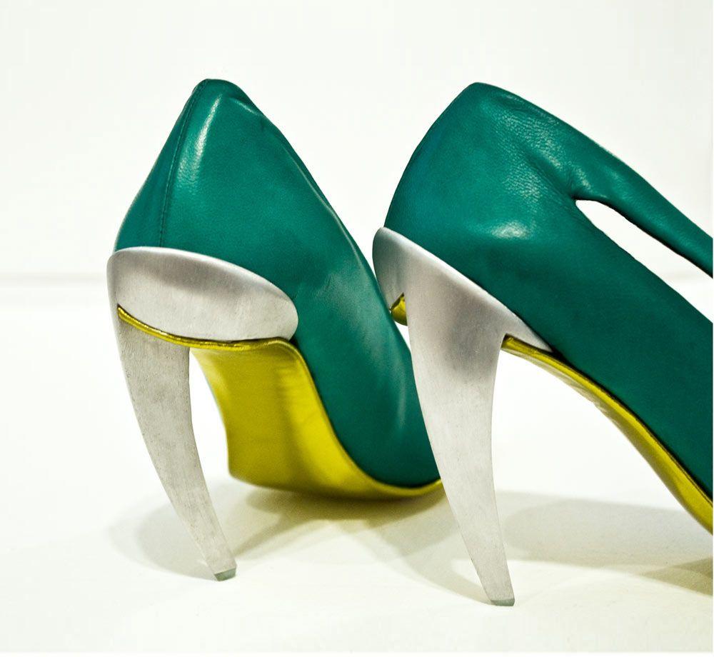 Metal Heel Shoe   virtualshoemuseum.com
