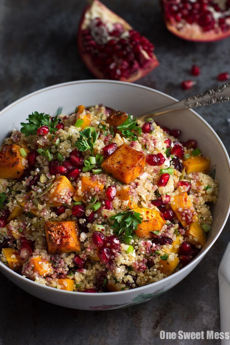 Photo of Roasted Butternut Squash Quinoa Salad – One Sweet Mess