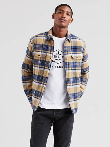 X Justin Timberlake Reversible Shirt Jacket Multi color