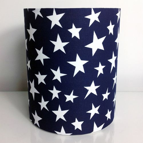 Navy With White Stars Fabric Light Pendant Ceiling Shade Ceiling Shades Ceiling Light
