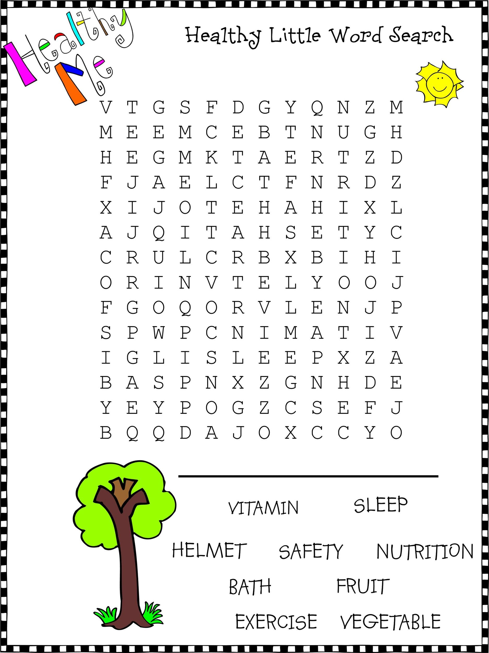 Kid Word Search Puzzles